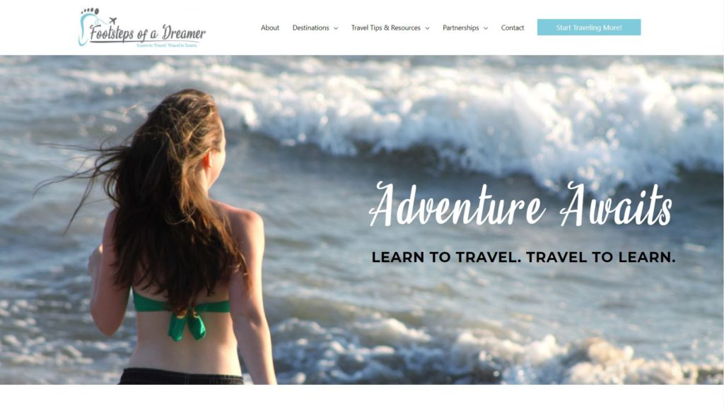 Footsteps of a Dreamer travel blog home page